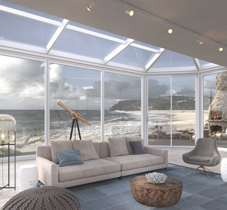 Beach Front Modern living room by Dessiner Interior Architectural Modern