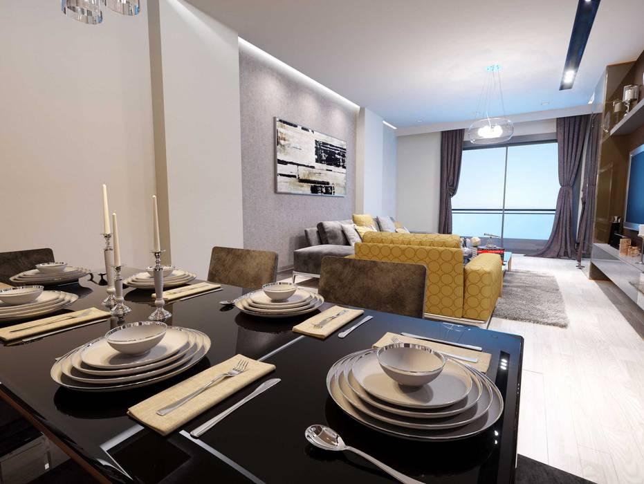 Ferah bir oturma odası Modern Duvar & Zemin ANTE MİMARLIK Modern