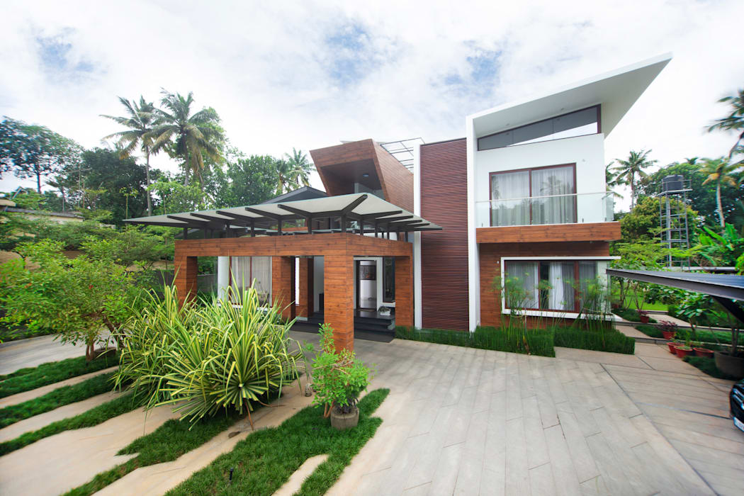 Exterior View:  Houses by Kembhavi Architecture Foundation