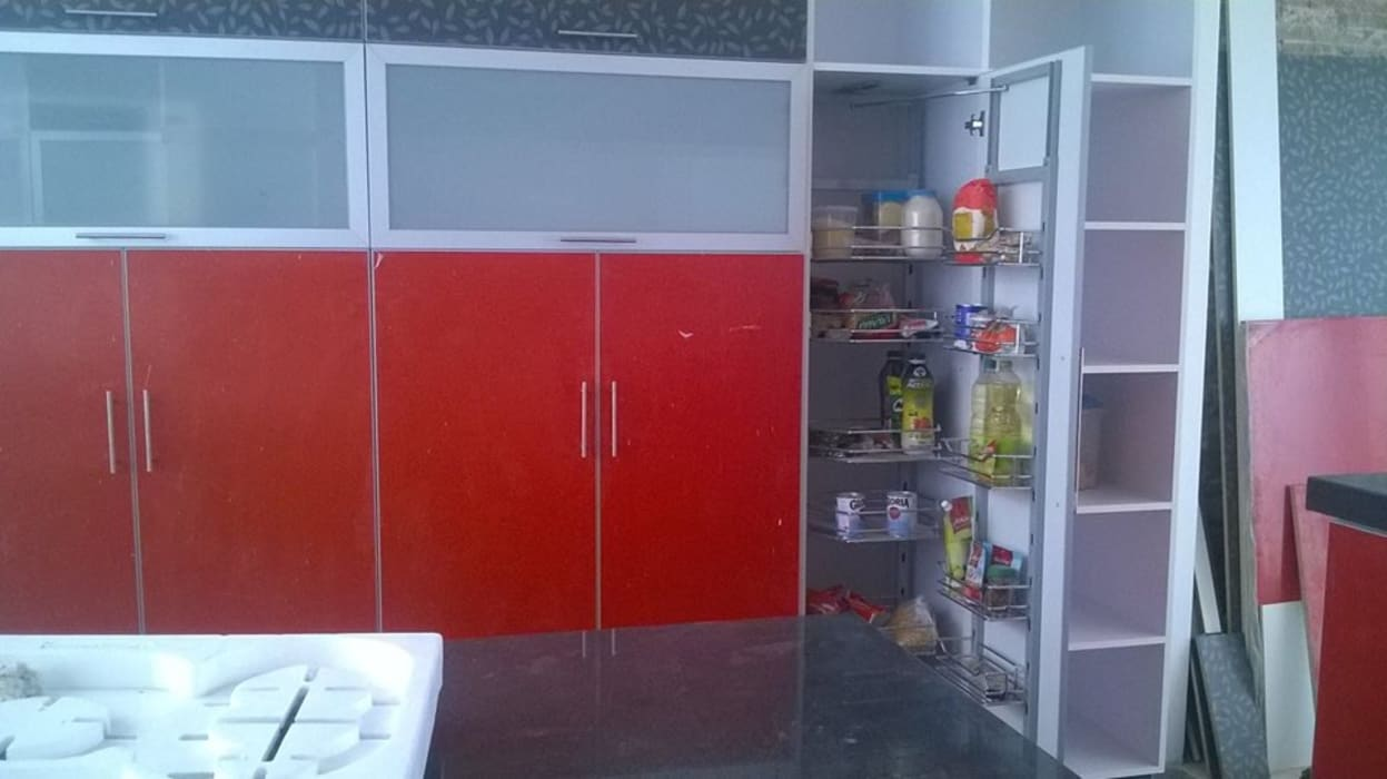 Cocina ARDI Arquitectura y servicios Muebles de cocinas Aglomerado Rojo