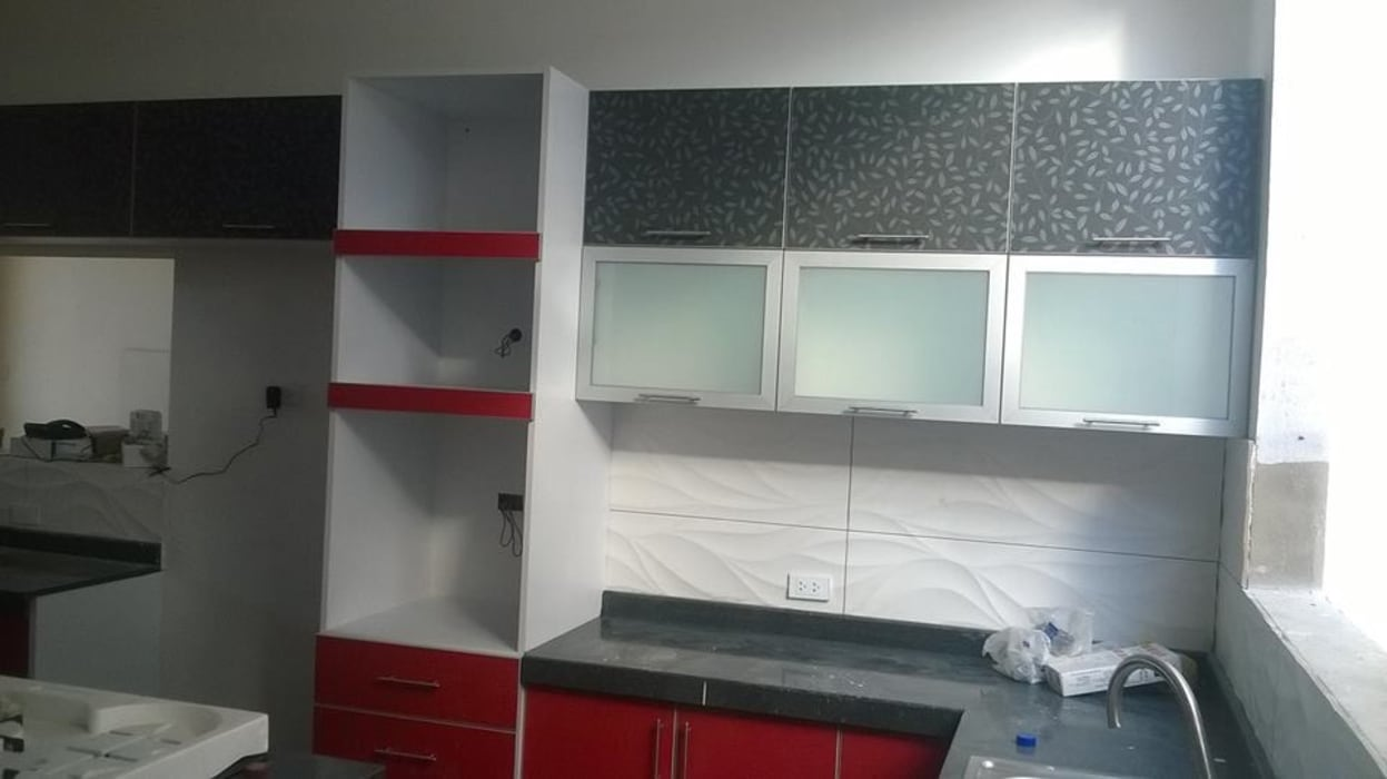 ARDI Arquitectura y servicios Muebles de cocinas Aglomerado Rojo