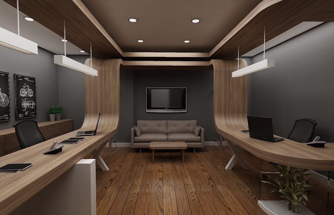 Nish İstanbul - Remzi Solmaz, Ofis Dekorasyonu Modern Oturma Odası Grand Office Modern