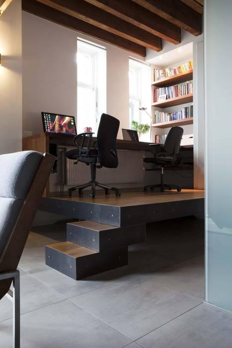 Lloydstraat 140, Rotterdam:  Studeerkamer/kantoor door Thijssen Verheijden Architecture & Management