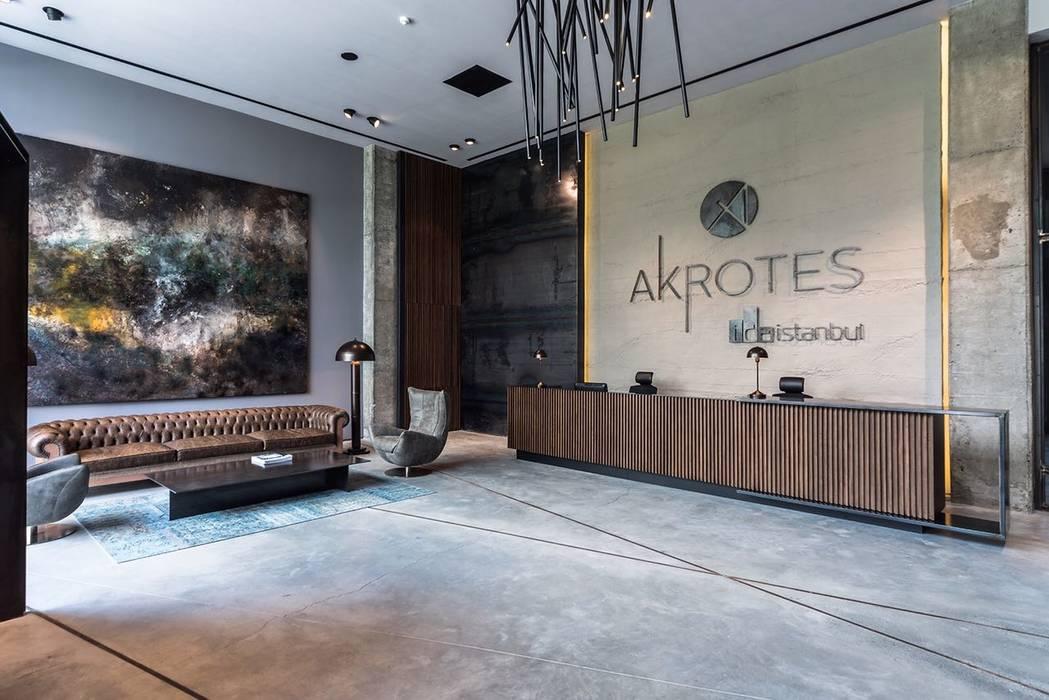 Akrotes Mimarlık Modern Duvar & Zemin Grand Office Modern