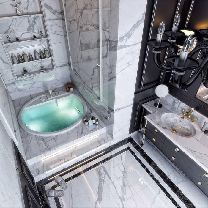 Banyo tasarım ANTE MİMARLIK Modern Banyo Gri