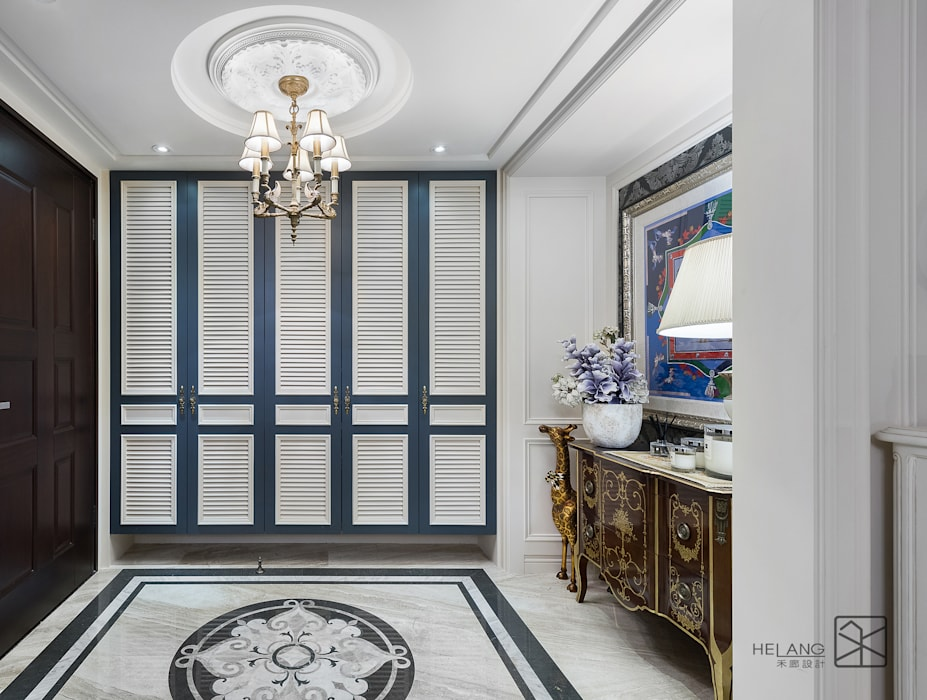 玄關鞋櫃 經典風格的走廊,走廊和樓梯 根據 禾廊室內設計 古典風