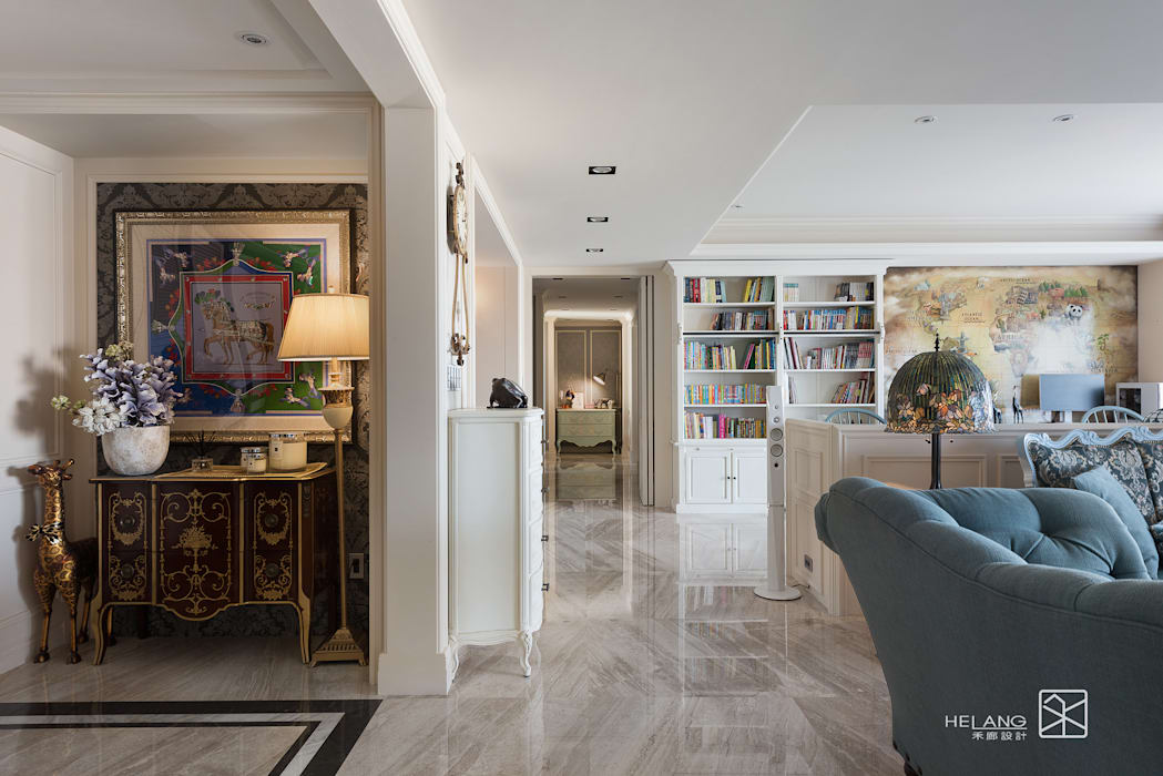 走廊 經典風格的走廊,走廊和樓梯 根據 禾廊室內設計 古典風