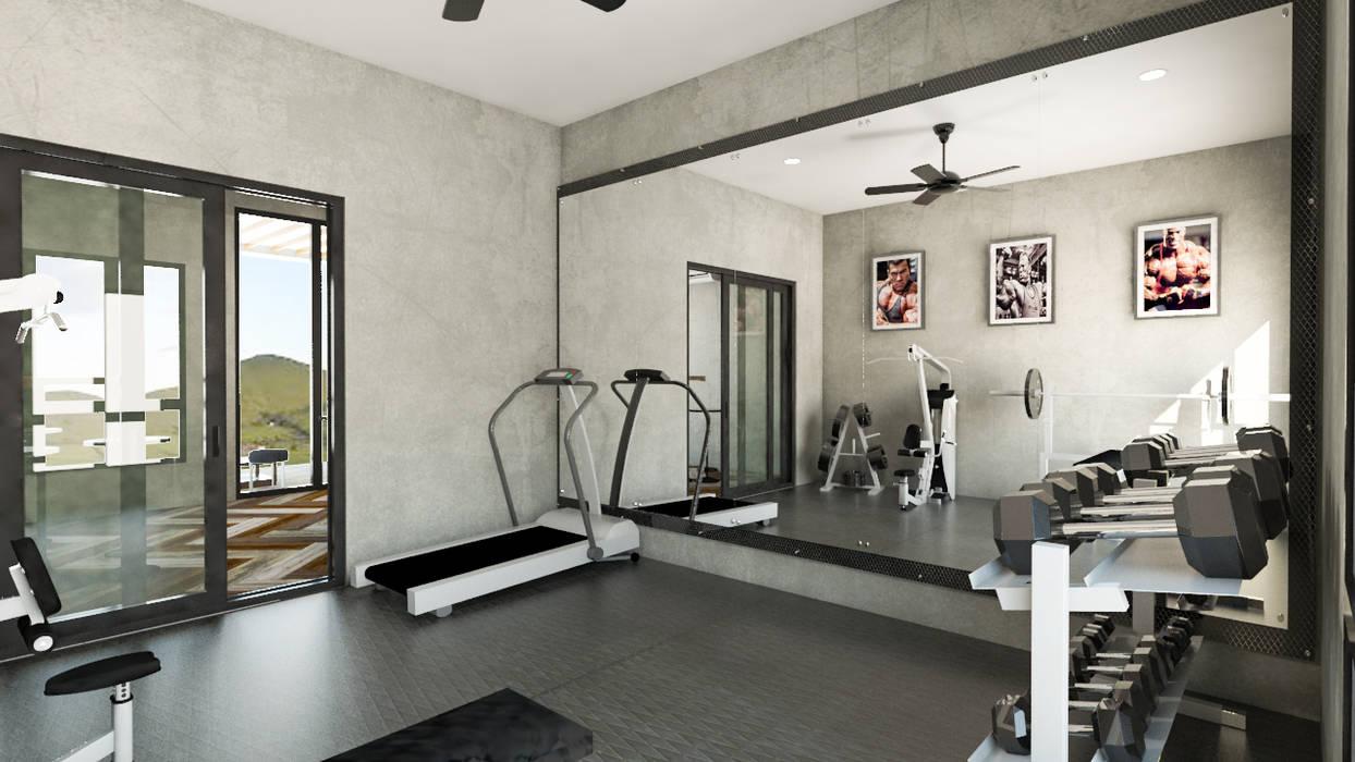 Area Gym:  Ruang Fitness by PT. Leeyaqat Karya Pratama