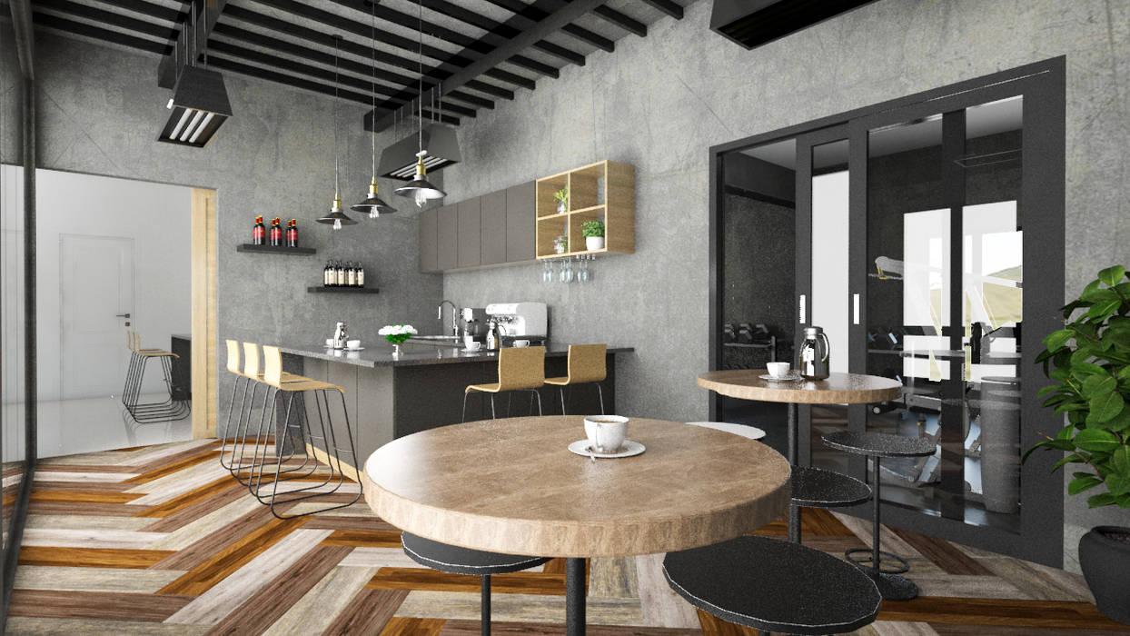 Cafe: Ruang Penyimpanan Wine oleh PT. Leeyaqat Karya Pratama, Tropis