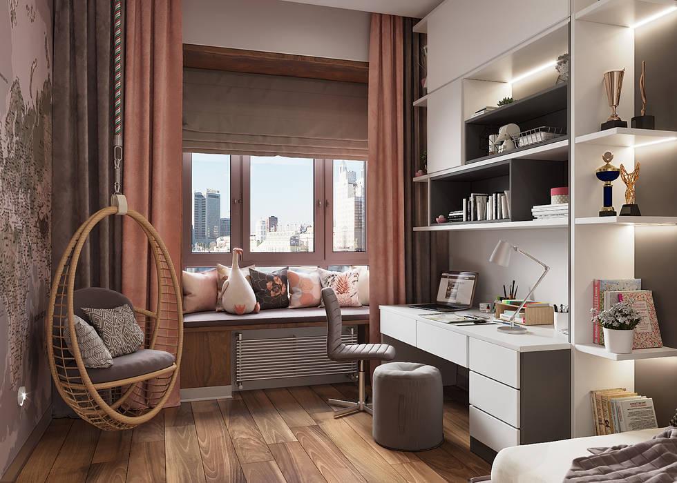 Dormitorios juveniles  de estilo  por FISHEYE Architecture & Design, Minimalista