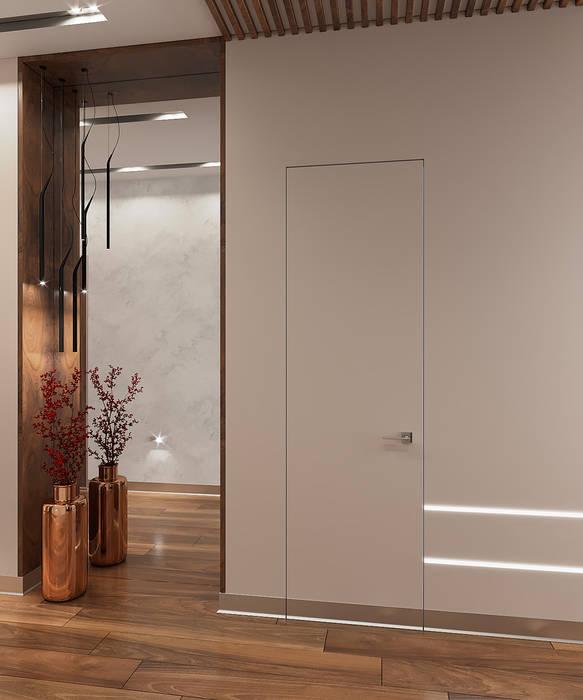 FISHEYE Architecture & Design Pasillos, halls y escaleras minimalistas