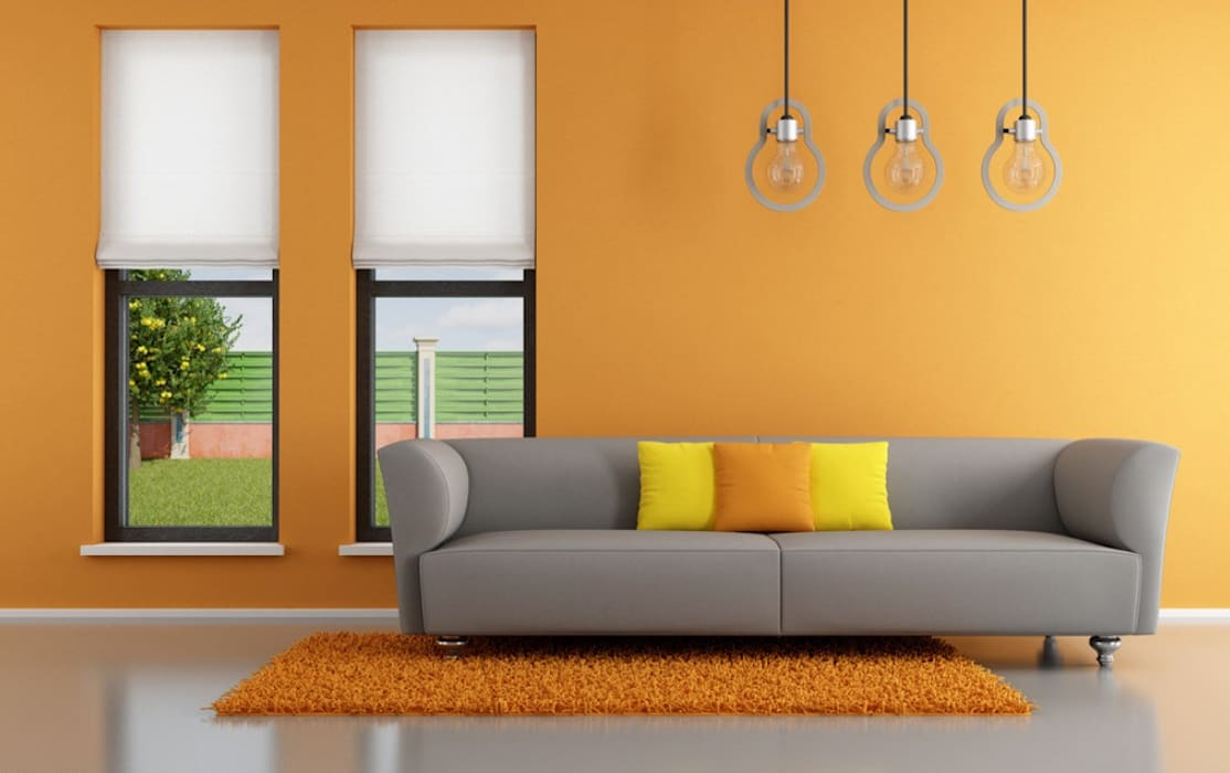 Bright colours for the Living room Modern Living Room by Modulart Modern