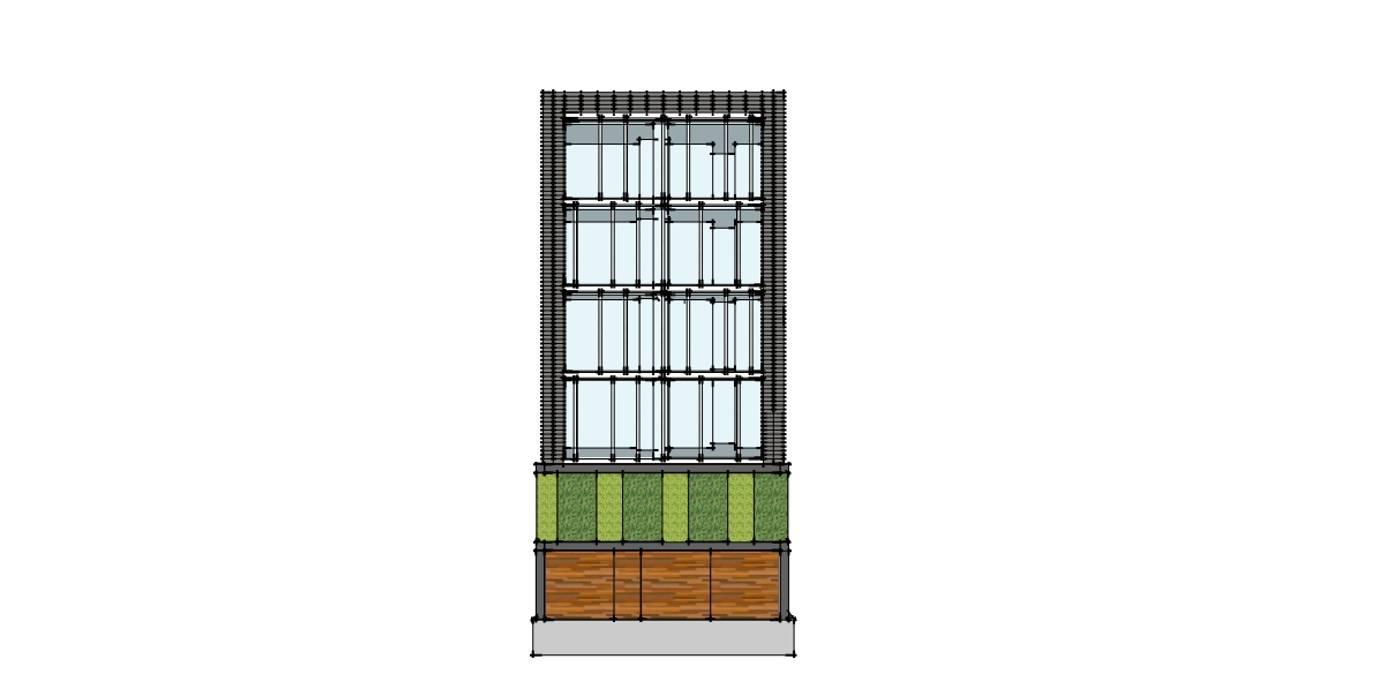 Estudio de fachada: Condominios de estilo  por NEU ARQUITECTURA