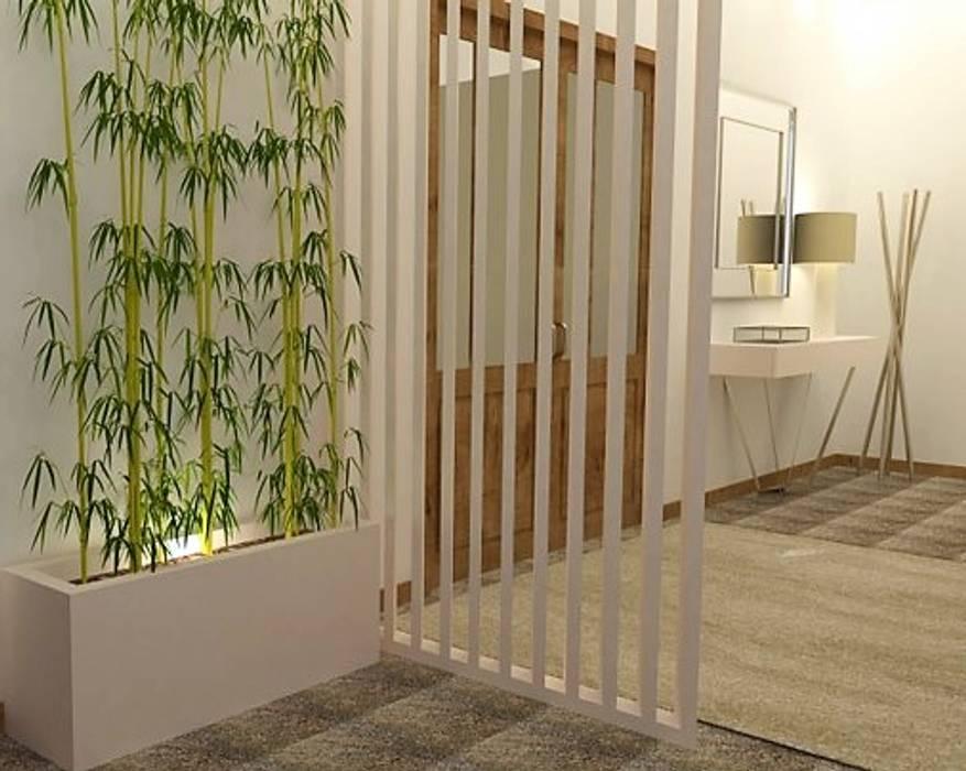 Criar um hall que não existe... Corredores, halls e escadas modernos por Casactiva Interiores Moderno