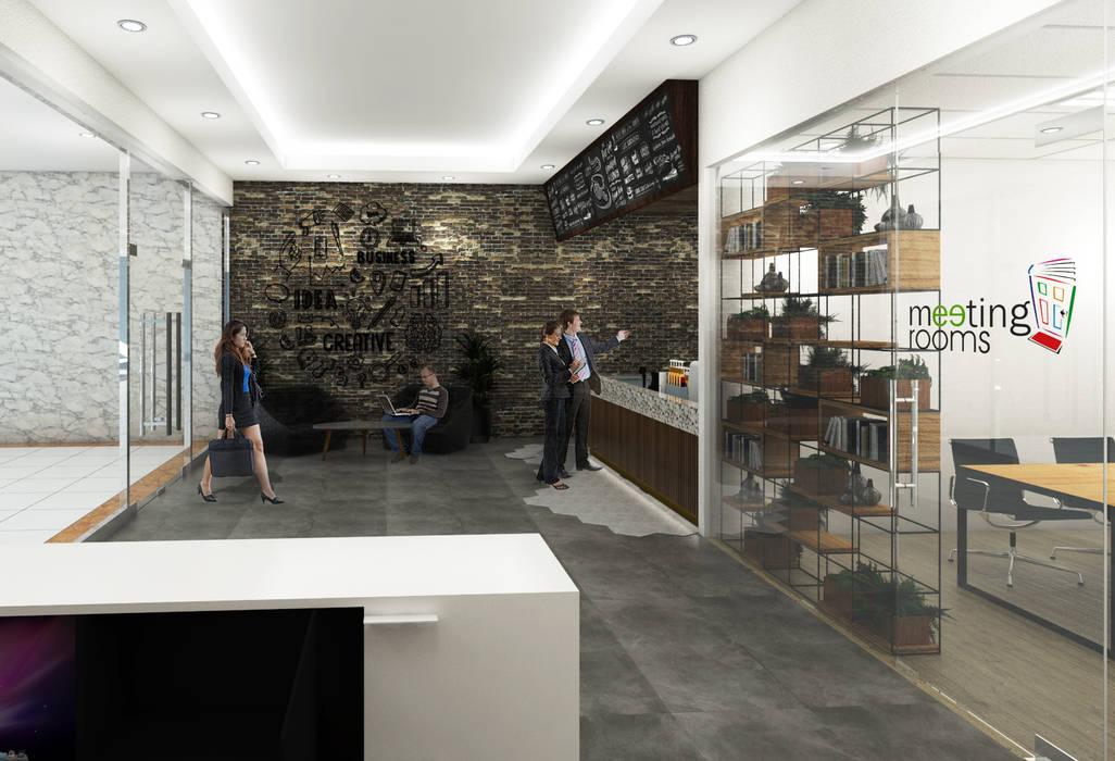 Lobby Brico Share Office: Gedung perkantoran oleh Desain Konstruksi Arsitektur, Modern