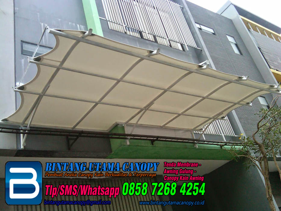 :  Offices & stores by Bintang Utama Canopy,Modern Iron/Steel