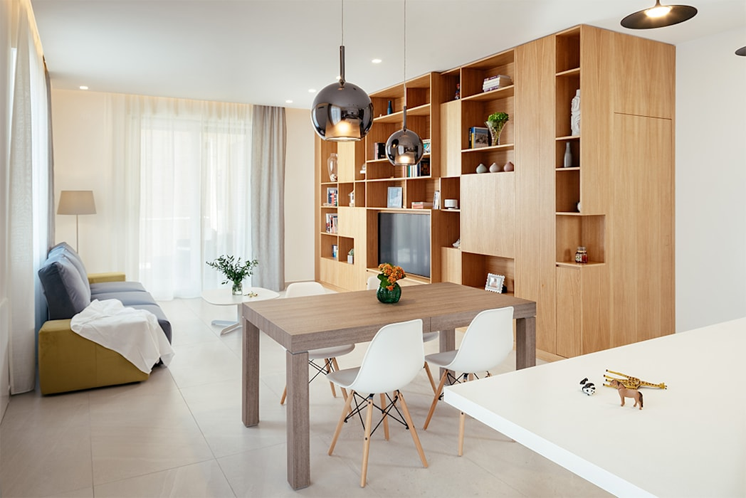 Modern living room by manuarino architettura design comunicazione Modern Wood Wood effect
