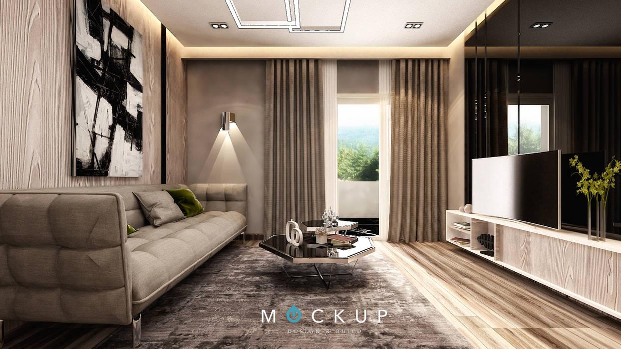 Mockup studio Modern living room