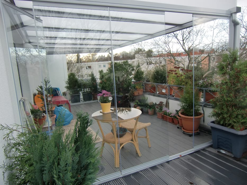 Überdachung dachterrasse klassischer balkon, veranda ...