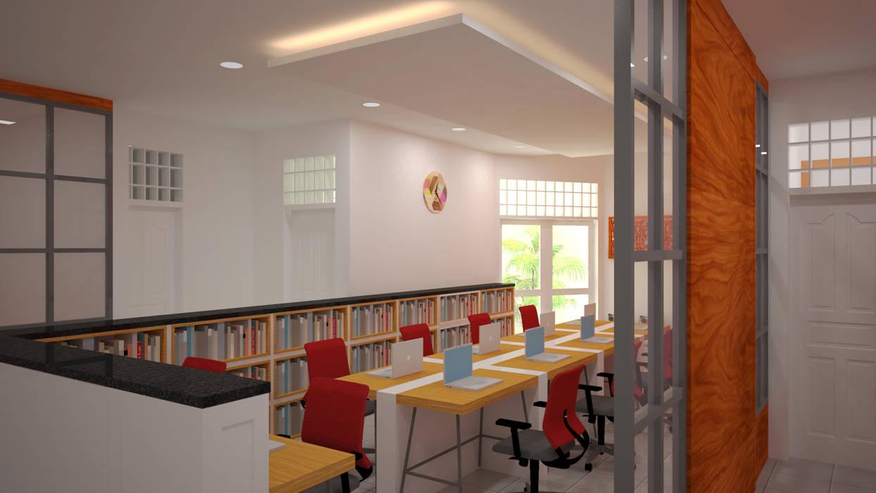 Ruang Peneliti Junior: Ruang Kerja oleh Vaastu Arsitektur Studio, Modern