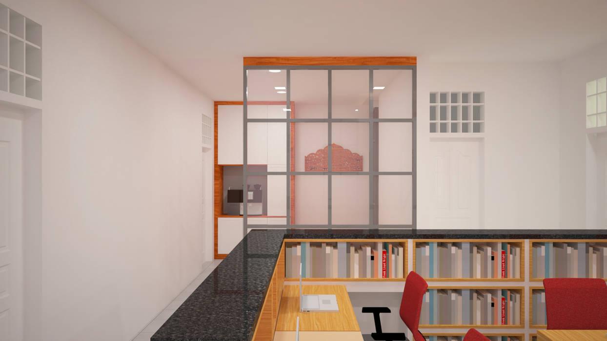 Ruang Peneliti Junior - Mushollah: Ruang Kerja oleh Vaastu Arsitektur Studio, Modern