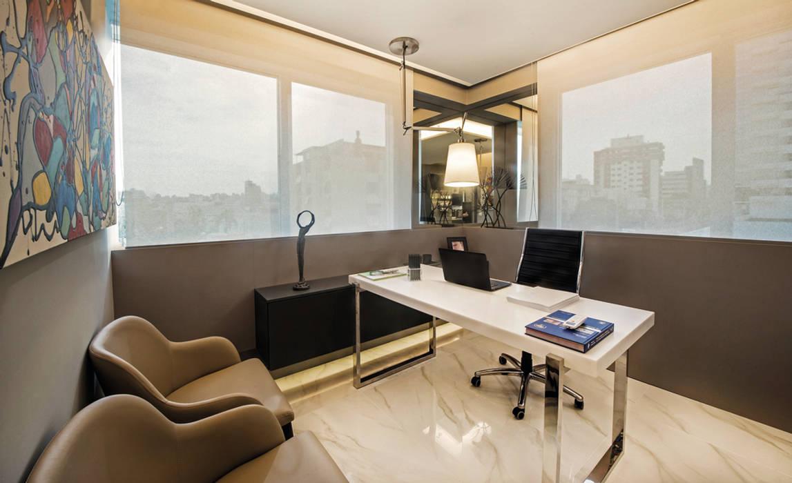 Decoração e Interiores |Sala do médico Dermatologista: Escritórios  por BG arquitetura | Projetos Comerciais,Moderno