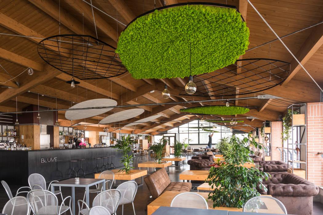 La componente industriale Bar & Club in stile industrial di AbitoVerde Industrial Legno Effetto legno