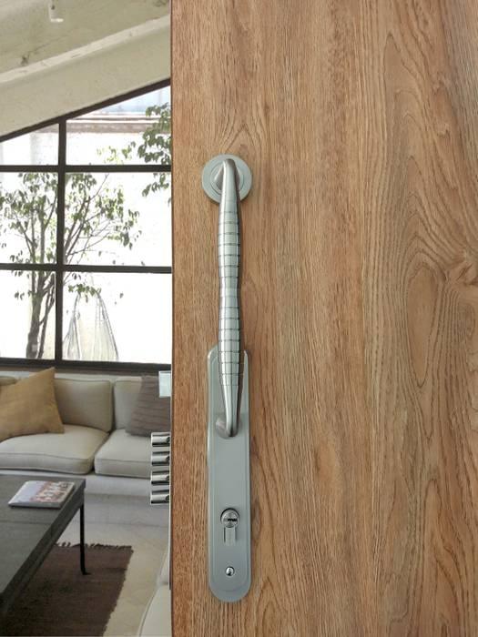 Mt. Blanc Cerradura Ashico Jaladera/Manija: Puertas y ventanas de estilo  por Industrial de Cerraduras