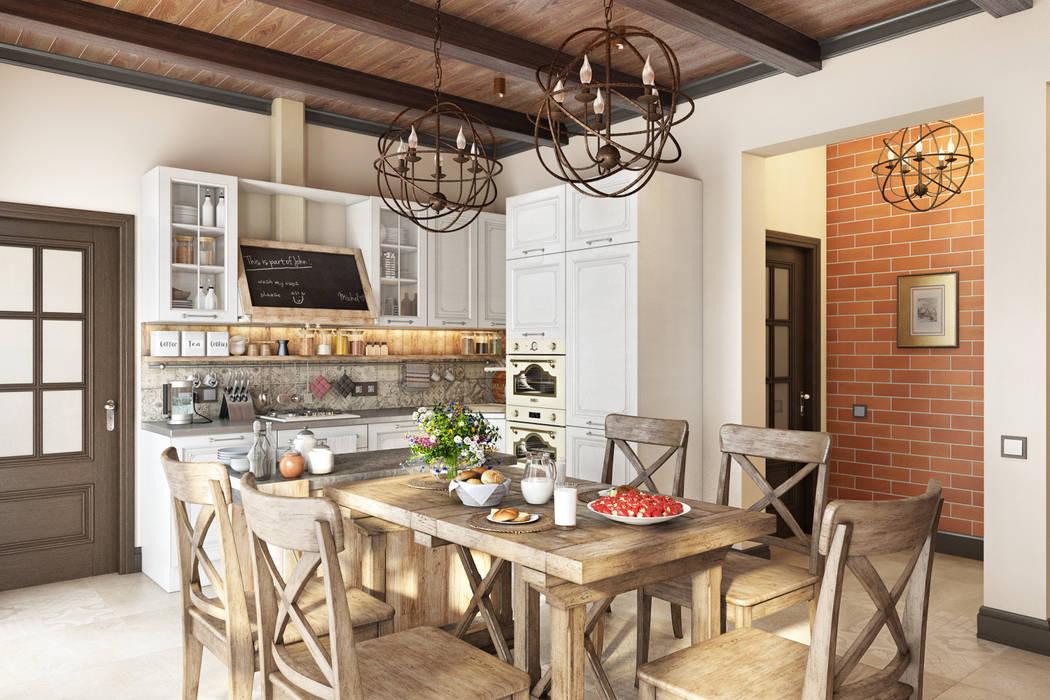 Country Loft Кухня в стиле кантри от Zibellino.Design Кантри