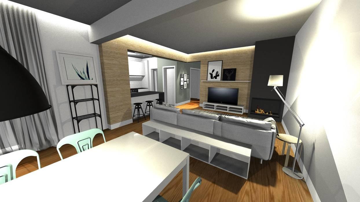 Design de interiores - Apartamento em Cascais:   por Form Arquitetura e Design