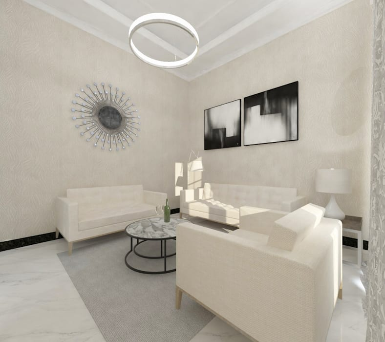 Ruang Tamu :  Lantai by Atelier BAOU+