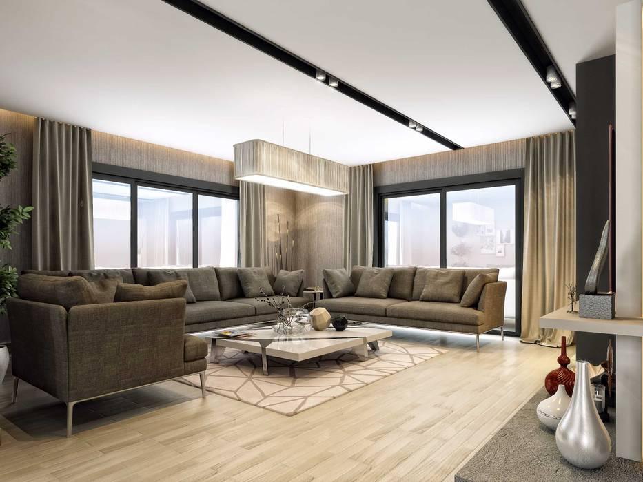 ANTE MİMARLIK  – Oturma odası aydınlatma:  tarz Oturma Odası,