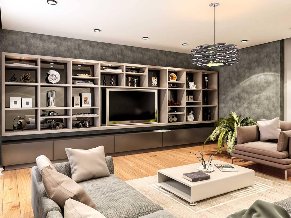 Tv Ünitesi Modern Oturma Odası ANTE MİMARLIK Modern