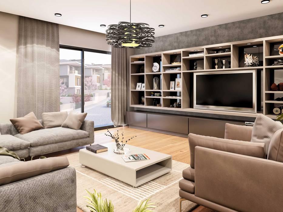 Mobilya Modern Oturma Odası ANTE MİMARLIK Modern