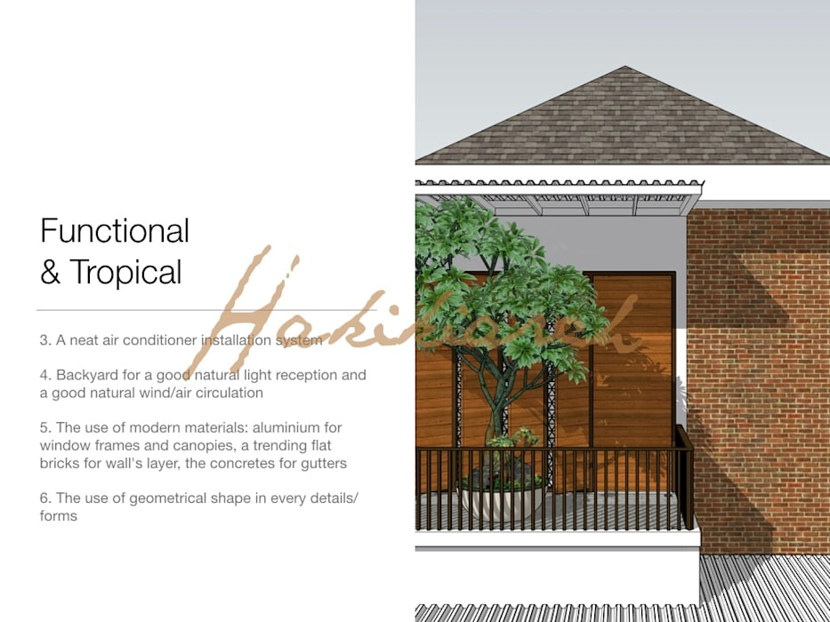 House/Office: Teras oleh Hakikiarch Architect Freelancer, Modern