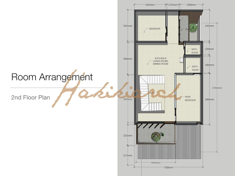 House/Office Hakikiarch Architect Freelancer Lantai