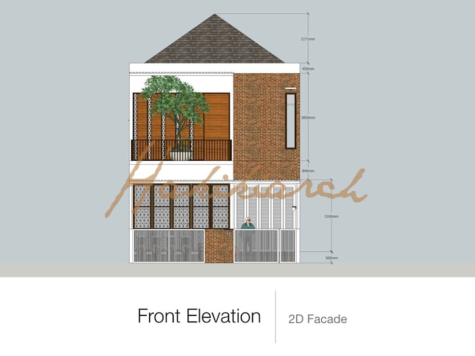 House/Office: Teras oleh Hakikiarch Architect Freelancer,