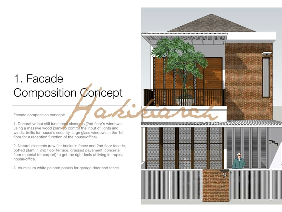 House/Office: Garasi oleh Hakikiarch Architect Freelancer,