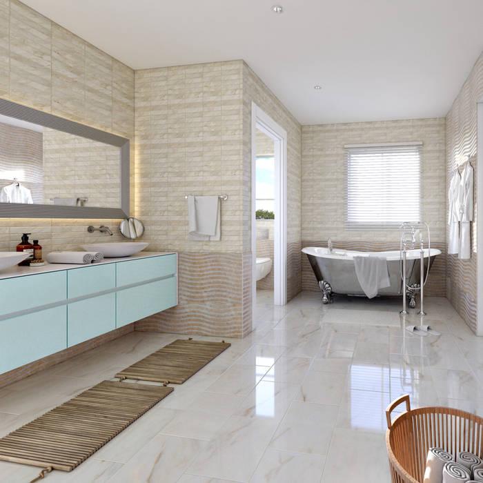 Master bathroom view 2 by Linken Designs