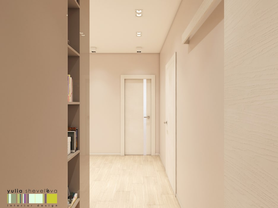 Eclectic style corridor, hallway & stairs by Мастерская интерьера Юлии Шевелевой Eclectic