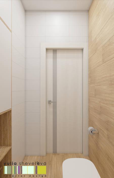 Наедине с природой Ванная комната в эклектичном стиле от Мастерская интерьера Юлии Шевелевой Эклектичный