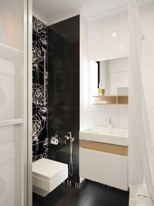 Дизайн двухкомнатной квартиры в скандинавском стиле: Ванная комната в . Автор – ЕвроДом,