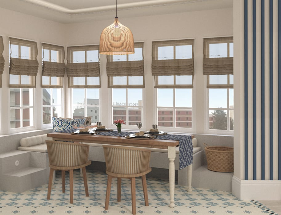 West Aegean Restaurant Akdeniz Pencere & Kapılar Bej Mimarlık Akdeniz