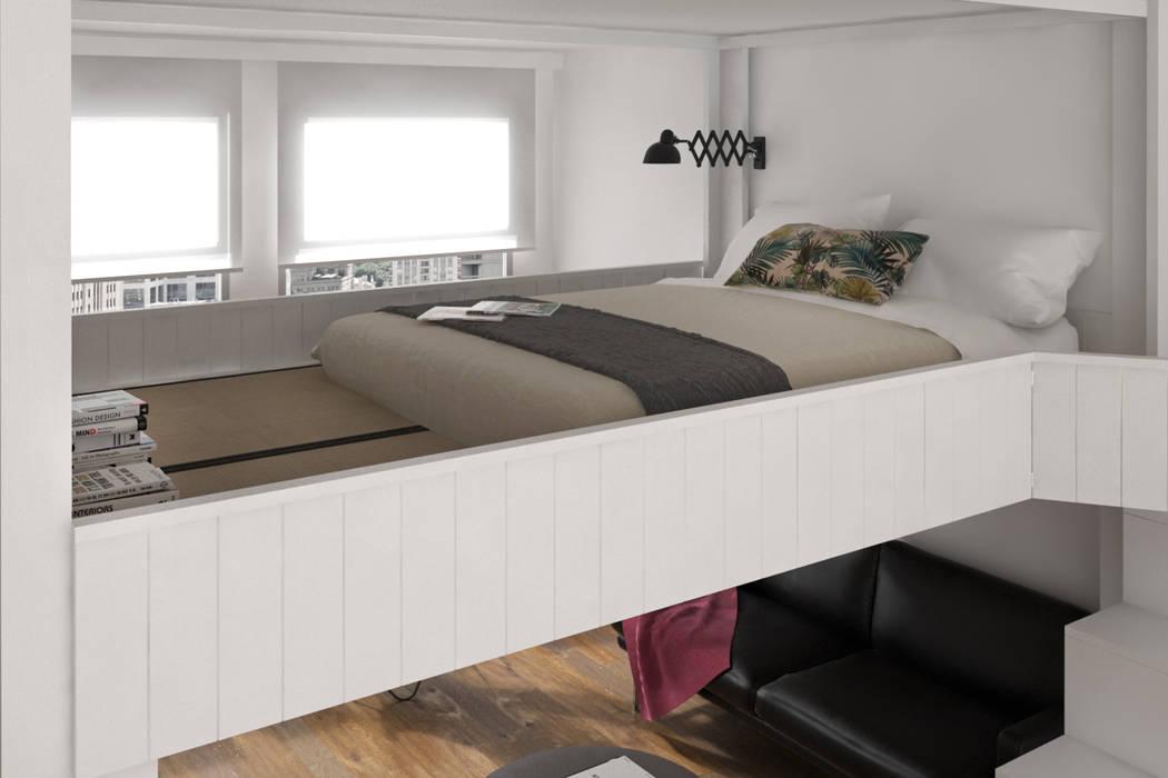 Letto a soppalco «rising»: camera da letto in stile di cinius s.r.l. ...