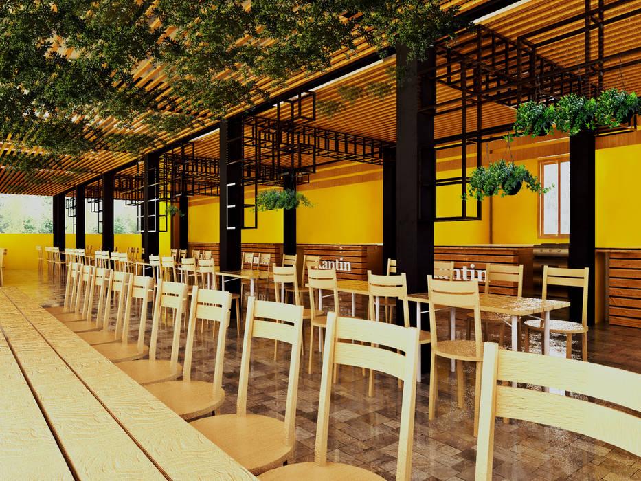 Kantin Sekolah SMKN 4 Kepulauan Anambas, Tanjung Pinang Sekolah Gaya Industrial Oleh r.studio Industrial Kayu Wood effect