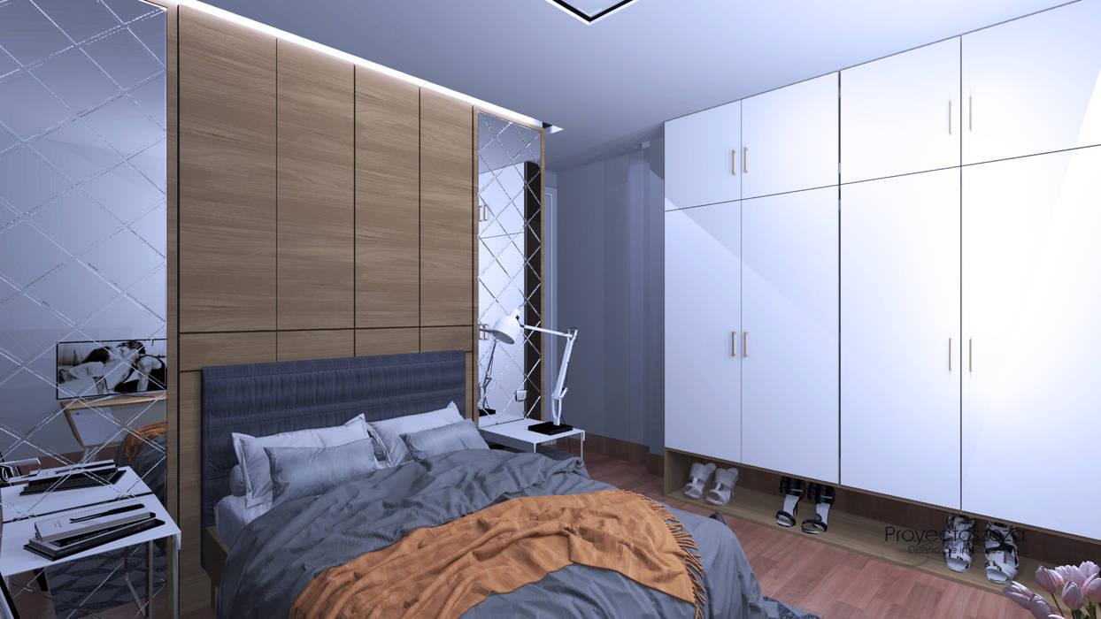 zita 臥室床與床頭櫃 White