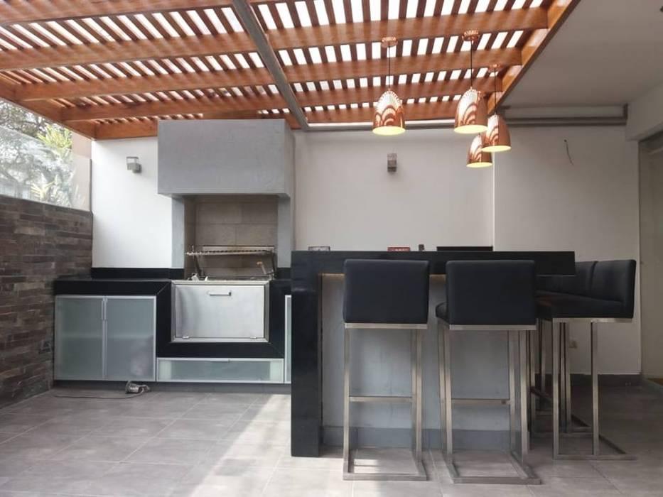 MIMETIKA Balcon, Veranda & Terrasse minimalistes