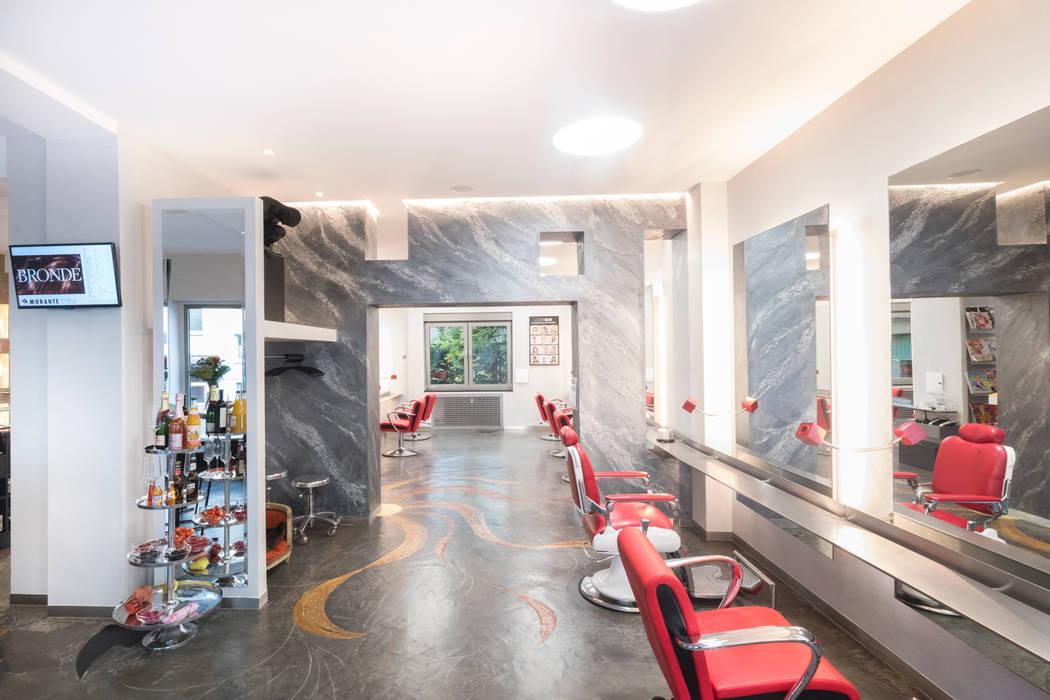 Lichtplanung für Ihre Geschäftsräume: Friseur Salon Morante in Essen:  Ladenflächen von Moreno Licht mit Effekt - Lichtplaner,Ausgefallen Stein