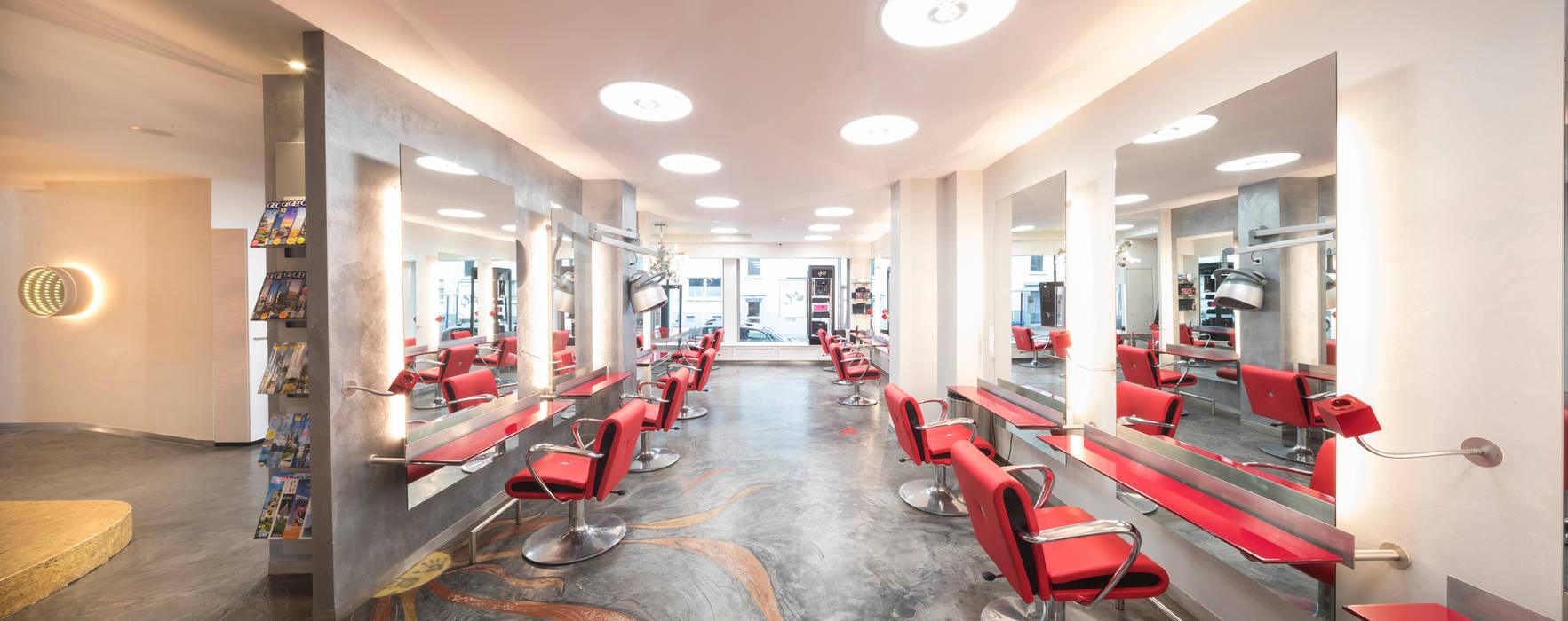 Lichtplanung für Ihre Geschäftsräume: Friseur Salon Morante in Essen:  Ladenflächen von Moreno Licht mit Effekt - Lichtplaner,Ausgefallen Aluminium/Zink