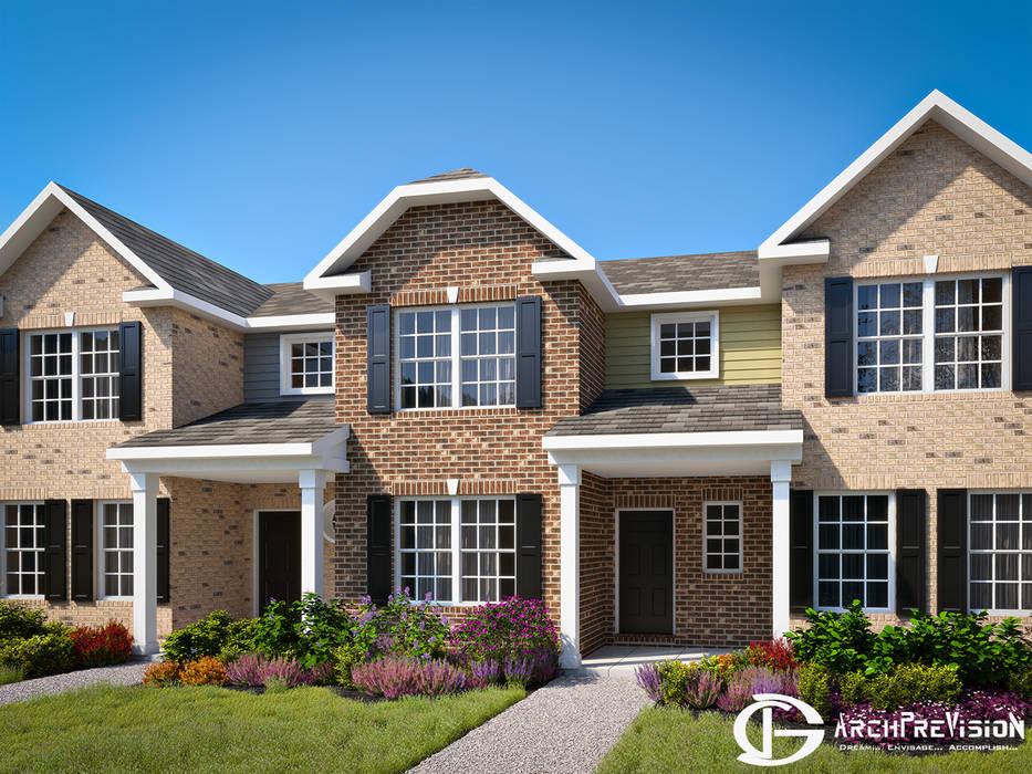 Projekty,  Dom wielorodzinny zaprojektowane przez 3DArchPreVision,